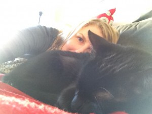 OK, OK I know I am not a cat….but here is Sebastian the wonder cat and his best friend (me) taking a nana nap!